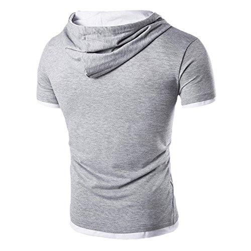 ODRD Clearance Sale Herren T-Shirts Frühling Sommer Männer Männer Sommermode Kapuzenpullover Kurzarm-T-Shirt für Männer Lässige Top Tanktop Bluse Langarmshirts Tee t shirts