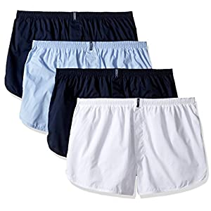 Jockey Men's Underwear Tapered Boxer – 4 Pack, icy blue, L