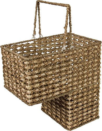 Trademark Innovations 16' Braided Rope Storage Stair Basket with Handles