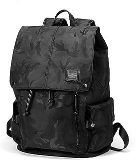 ZNBJBB Men's Backpack Nylon Cloth Backpack Student Leisure Bag Camouflage Large Capacity Computer Bag Fashion Trend
