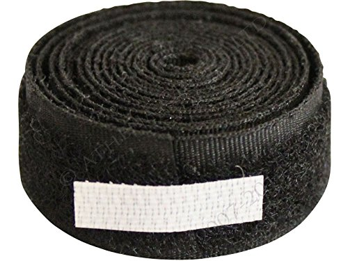 150 mm de ancho, gancho y lazo, negro, 1 m de longitud, doble cara
