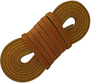 Leather Straps 2 Pieces 1/4 Wide and 72 inches Long Laces That are Great for Many Purposes by TOFL (Tan)
