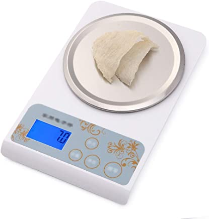 Kitchen Scales - Stainless Steel Scales, 6 Units Conversion, HD Display, Multi-Function Precision Compact Small Waterproof Electronic Scale - 21.2X13.8X2cm