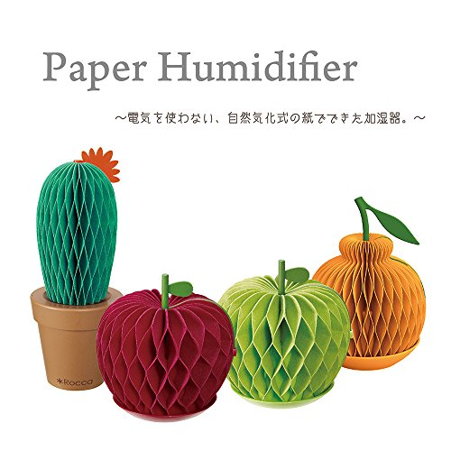 ドウシシャ加湿器自然気化式ペーパー加湿器リンゴRocca紙の加湿器レッドRC-KP1704RD