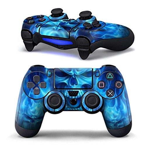 Bolange Heißes blaues Schädel-Aufkleber-Kasten-Abziehbild für PS4 Playstation 4 Dualshock Controller