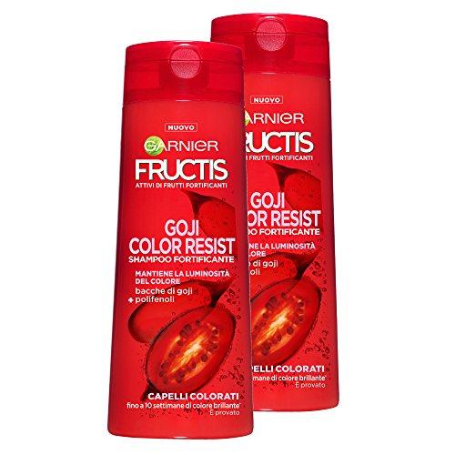 Garnier Fructis Shampoo Haar Bunte Color Resist mit Acai-Beeren, ohne Parabene, 250ml–3Packungen von 2Einheiten