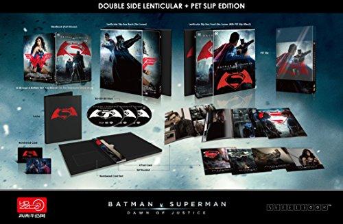 BATMAN v SUPERMAN Dawn Of Justice [3D Blu-ray + 2D Blu-ray HDZeta Exclusive Steelbook DOUBLE LENTICULAR Slip Edition;