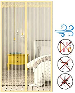 YHEGV Magnetic Screen Door Heavy Duty Mesh Curtain Closure Automatically,Anti-Mosquito Net,Toddler Pet French Sliding Glass Patio Click Magic Flying Bug,(63x136inch)