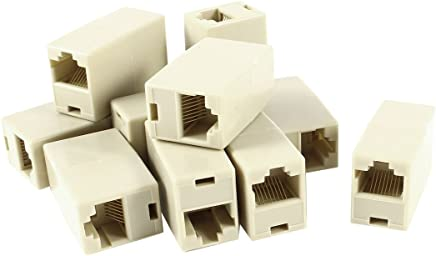 Uxcell a14062300ux0677 VGA DB9 9 Pin Female to CAT5 CAT6 RJ45 8P8C Female Coupler Connector