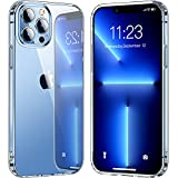 Elando Crystal Clear Case Compatible with iPhone 13 Pro Max Case, Non-Yellowing Protective Shockproof Slim Thin Phone Case, 6.7 inch
