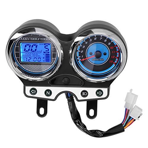 Tomanbery Indicador de Motocicleta Instrumento de Motocicleta Buen Sellado Tacómetro de Motocicleta Medidor de Velocidad ecológico Uso en Exteriores