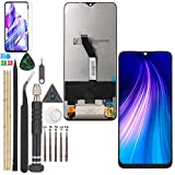 Display for Xiaomi Redmi Note 8 Pro LCD Touch Screen Digitizer Assembly Replacement with Tools(Black)