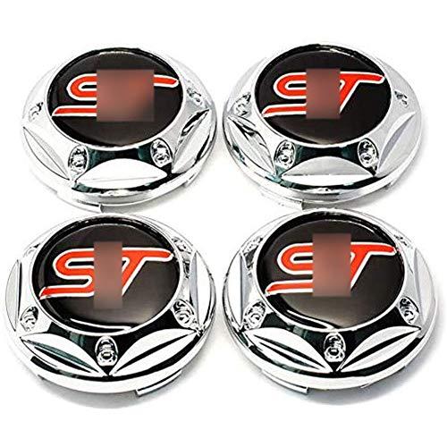 4 Pezzi Cappucci Centrali Delle Ruote Adesivo Distintivo 3D Per Ford St Fusion Everest Escape Explorer, Coperture Antipolvere Per Ruote Cover Con Stemma Distintivo Adesivi Logo Wheel Trim, 60MM