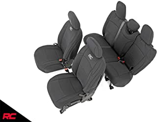 Rough Country 91010 Neoprene Seat Covers Black 4 Door (fits) 2018-2020 Jeep Wrangler JL | 1st/2nd Row | Water Resistant