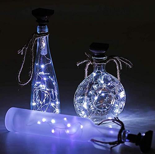 Solar Powered 2 m 20LED corcho forma cadena luz botella de vino lámpara LED DIY parte caliente 4 unids
