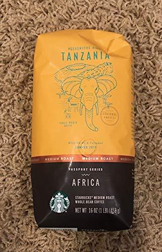 Starbucks Ngorongoro Ridge Tanzania Single-Origin Whole Bean Coffee - Passport Series Africa - 1 lb
