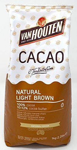 Van Houten - natürliches hellbraunes Kakaopulver (10-12% Kakaobutter) 1kg