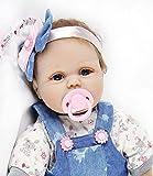 ZIYIUI 22pulgadas 55cm Bebes Reborn niñas Verdadero Silicona muñecas Reales Baby Dolls Originales Recien Nacidos niños Toddler Realista Ojos Abiertos
