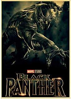asfrata265 Arte De La Pared Marvel Movie Black Panther Póster Pegatinas De Pared Imprimir Pintura De La Lona Pintura Sin Marco Decorativo para El Hogar Xd520 (40X50Cm)