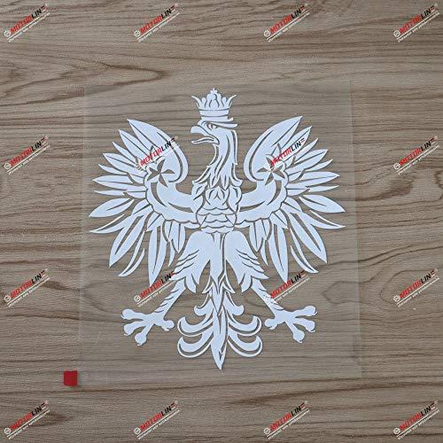 6'' Polish Eagle Coat of arms of Poland Polski Decal Sticker Car Vinyl White sda3