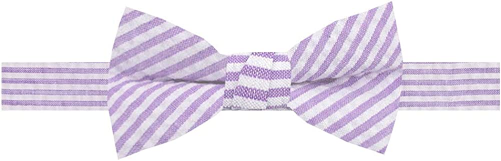 Jacob Alexander Boys' Seersucker Pre-Tied Banded Pattern Striped Popular brand in the Max 74% OFF world