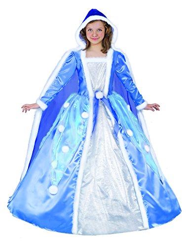 Ciao-13665.6-8 Disfraz de Princesa de Copo de Nieve para Niña, color azul claro, S (6-8 años) (13665.6-8)