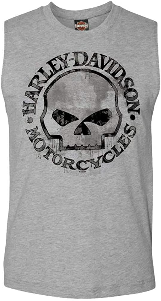 Harley-Davidson Men's Willie Store G Skull Muscle Tank Sleeveless security Top