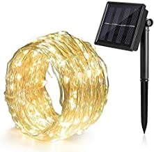 Ankway Solar String Lights 100 LED Fairy Lights 39ft Waterproof Decorative Light
