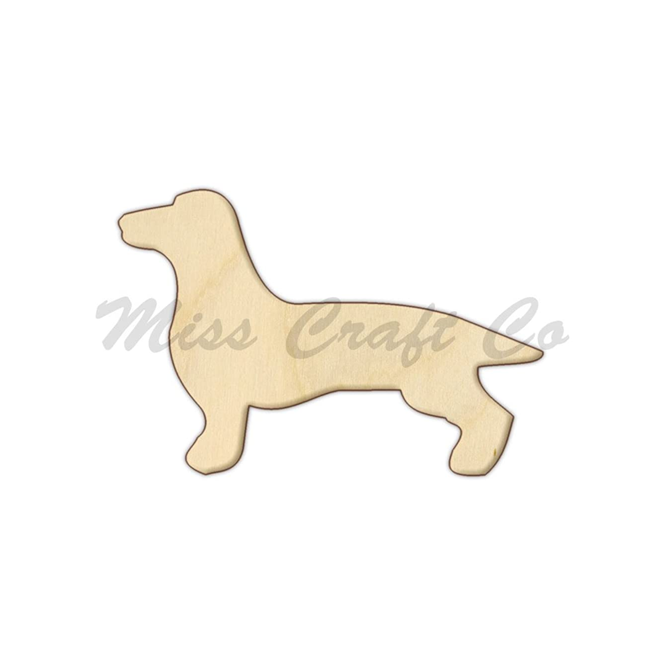 Dachshund Wood Shape Cutout, Wood Craft Shape, Unfinished Wood, DIY Project. All Sizes Available, Small to Big. Made in the USA. 10 X 6.7 INCHES