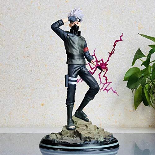 gengxinxin Naruto Kakashi Reche Schreibt Rundes Auge Sechs Generationen Handgefertigte Statue Modell Ornamente Modell Handgefertigtes Tischplattendekoration Sammlungen