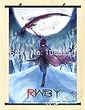 Cartoon world Wall Scroll Home Decor RWBY Ruby Rose Anime Poster