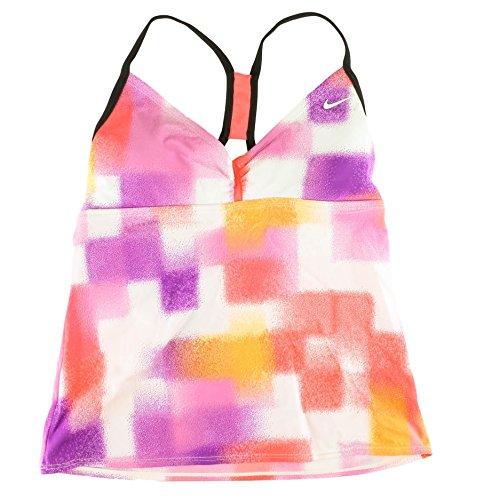 Nike Geometric Paint Racerback Tankini Top–Women' s NESS4328Size 6Rosa