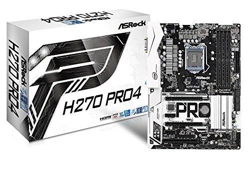 ASRock 90-MXB3R0-A0UAYZ Motherboard (Chipsatz Intel H270, 4GB Speicher) schwarz/weiß