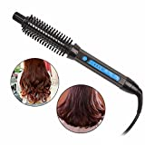 SZSYR-Curling Iron Brush Portable 3 in 1 Curling Tong for Short and Long