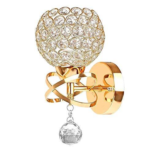 Illuminazione per Interni Lampade da Parete Lampada europea Stile Contemporaneo cristallo decorativo a parete, finitura cromata lusso moderno della lampada da parete LED della decorazione della casa d
