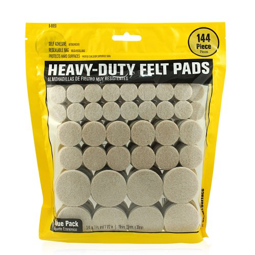 Smart Surface 8850 Heavy Duty Self Adhesive Furniture Felt Pads 3/4-Inch, 1-Inch & 1-1/2-Inch Round...