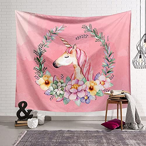 PEKSLA Tapestry Psychedelic Mystic Garland Unicorn 230cmx150cm 5 Decor Psychedelic Tapestries Indian Bed Sheets Large Hangings