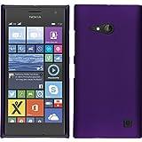 PhoneNatic Hülle kompatibel mit Nokia Lumia 730 - Hülle lila gummiert Hard-case + 2 Schutzfolien