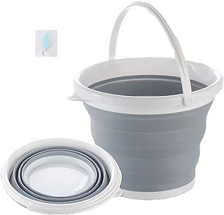 VISZC Seau Pliable 5L 10L - Conteneur d'eau Pliable Portable - Seau Peu encombrant pour Le Camping, la Plage, Le Jardinage...