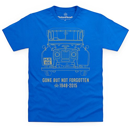 Shotdeadinthehead PistonHeads Gone But Not Forgotten T-Shirt, Uomo, Blu Royal, M