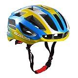 SAVA Casco Bici MTB Ciclismo Adulto Regolabile Casco da Biciclettas (Giallo)