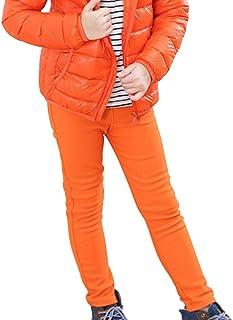 Shengshui Niña Pantalones de Invierno Gruesos Forrado Pantalones Lápiz Flacos Cintura Elástica