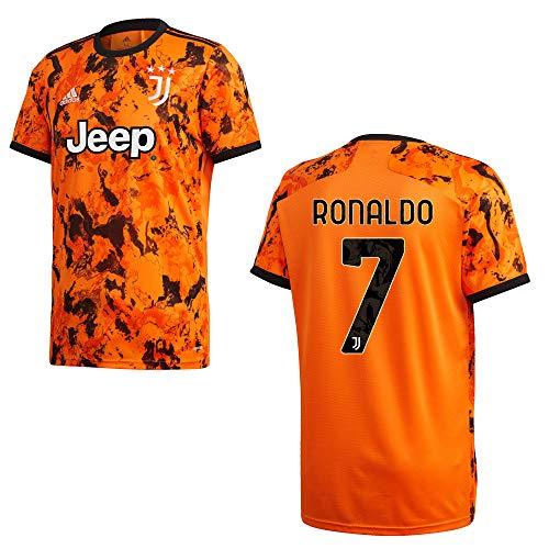 Adidas Juventus Torino - Maglia 3rd per bambini 2021 - Ronaldo 7, Colore: arancione., 140