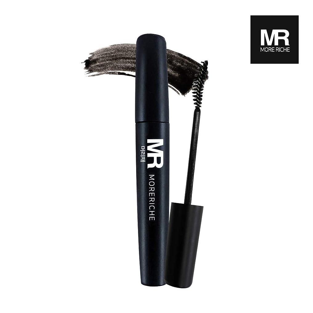緊急公使館ローブ[1+1] MoreRiche ヘアマスカラカラーグレーイングヘアカバースティック Temporary Hair Mascara Color Graying hair Cover Stick, Black Color 0.44 Fluid Ounces