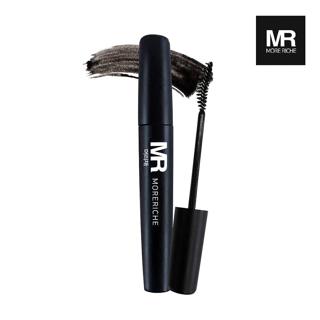 タブレット始めるスライム[1+1] MoreRiche ヘアマスカラカラーグレーイングヘアカバースティック Temporary Hair Mascara Color Graying hair Cover Stick, Black Color 0.44 Fluid Ounces