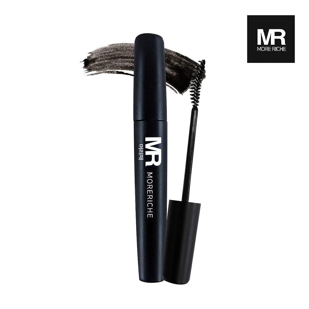 破壊的な流産症候群[1+1] MoreRiche ヘアマスカラカラーグレーイングヘアカバースティック Temporary Hair Mascara Color Graying hair Cover Stick, Black Color 0.44 Fluid Ounces