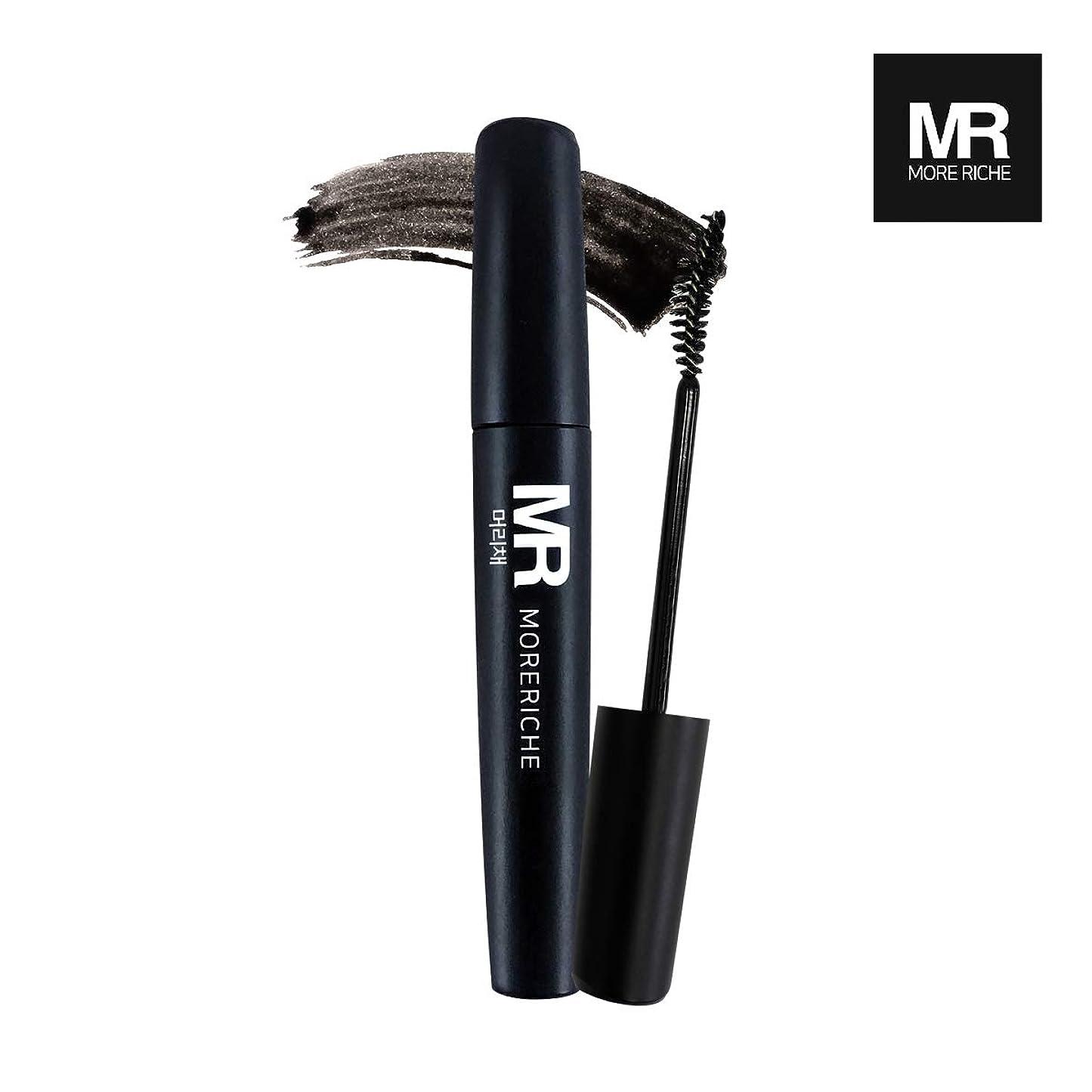 ベーリング海峡結果としてとげ[1+1] MoreRiche ヘアマスカラカラーグレーイングヘアカバースティック Temporary Hair Mascara Color Graying hair Cover Stick, Black Color 0.44 Fluid Ounces