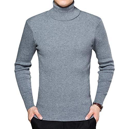 TGZZ Invierno cálido Cuello Alto Hombres suéter Talla Grande 4XL Casual sólido...