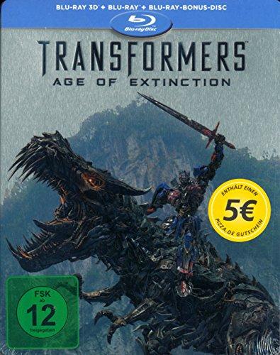 Transformers 4: Ära des Untergangs 3D - Limited Edition Steelbook Blu Ray 3-Disc Edition (3D + 2D + Bonus Disc)