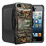Untouchble Case for Apple iPhone SE, iPhone 5 and 5s Case [Heavy Duty Clip]- Shockproof Swivel Holster Case with Built in Kickstand - Tree Camo Branch